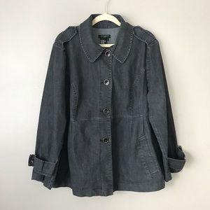 Sandro Women button up chambray jacket